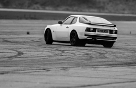 Porsche 944 on the track at Bruntingthorpe