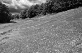 The old Brooklands track